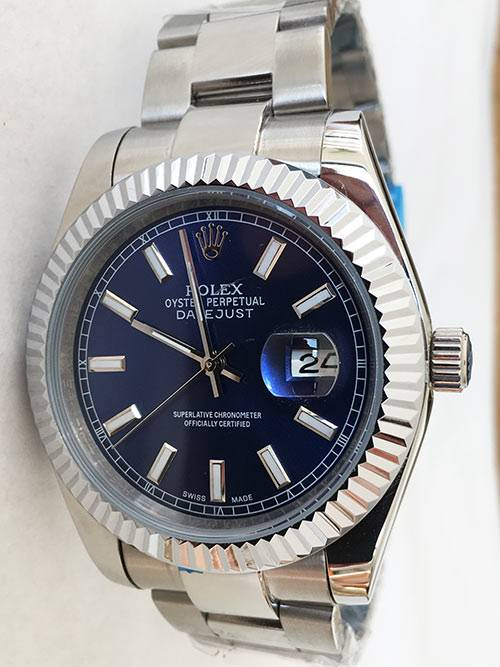 Replica Uhr Rolex Datejust 22 (40 mm) 126300 Oyster band (Blaues Zifferblatt) Edelstahl 316L Automatikwerk