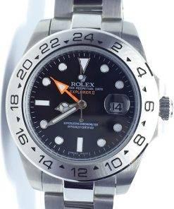 Replica Uhr Rolex Explorer 01 (39mm) 216570 (schwarzes Zifferblatt) Oystersteel Edelstahl 316L Automatikwerk