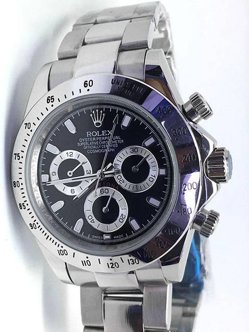 Replica Uhr Rolex Daytona 11 cosmograph (40 mm) Schwarzes Zifferblatt Oystersteel Edelstahl 316L Automatikwerk