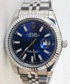 Replica Uhr Rolex Datejust 26 (41 mm) 126334 Jubilee band / Blaues Zifferblatt Gold Edelstahl 316L Automatikwerk