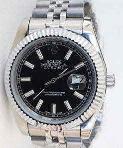 Replica Uhr Rolex Datejust 28 (41 mm) 126334 Jubilee band (Schwarzes Zifferblatt) Edelstahl 316L Automatikwerk