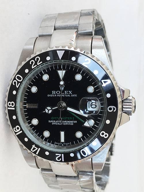 Replica Uhr Rolex Gmt-master ll 05 (40 mm) 16710 Schwarz Austernband Date (schwarzes Zifferblatt) Edelstahl 316L Automatikwerk