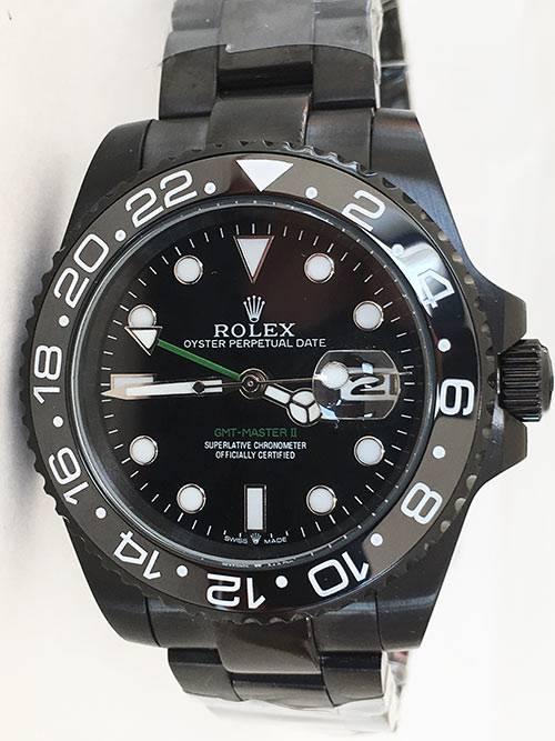 Replica Uhr Rolex Gmt-master ll 07 (40 mm) 116710 Limited Edition /35 Black Venom Austernband Date (Schwarzes Zifferblatt) Edelstahl 316L Automatikwerk