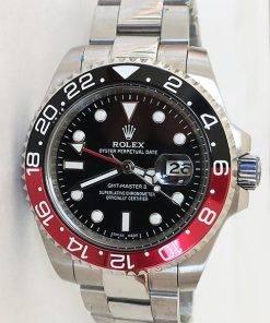 Replica Uhr Rolex Gmt-master ll 04 (40 mm) 16710 Coca Cola Schwarz/Rot Austernband Date (schwarzes Zifferblatt) Edelstahl 316L Automatikwerk