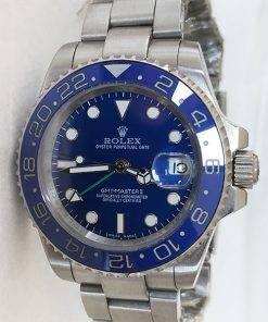 Replica Uhr Rolex Gmt-master ll 06 (40 mm) 116710ln blau Austernband Date (Blaues Zifferblatt) Edelstahl 316L Automatikwerk