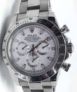Replica Uhr Rolex Daytona 12 cosmograph (40 mm) Weißes Zifferblatt Oystersteel Edelstahl 316L Automatikwerk