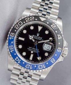 Replica Uhr Rolex Gmt-master ll 03 (40 mm) 116710BLNR Batman Blau/Schwarz Jubiläumsband Date (schwarzes Zifferblatt) Edelstahl 316L Automatikwerk