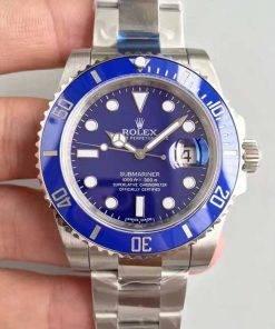 "Replica Uhr Rolex Submariner 03 (40mm) 116619LB ""Blau"" (blaues Zifferblatt) Edelstahl 316L Automatikwerk"