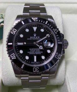 Replica Uhr Rolex Submariner 01 (40mm) 116610LN Date Oystersteel (schwarzes Zifferblatt) Edelstahl 316L Automatikwerk
