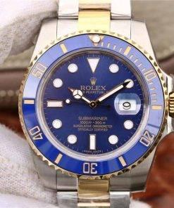 "Replica Uhr Rolex Submariner 04 (40 mm) 116613BLSO ""Blau"" Bi-Color Oystersteel (blaues Zifferblatt) Edelstahl 316L Automatikwerk"