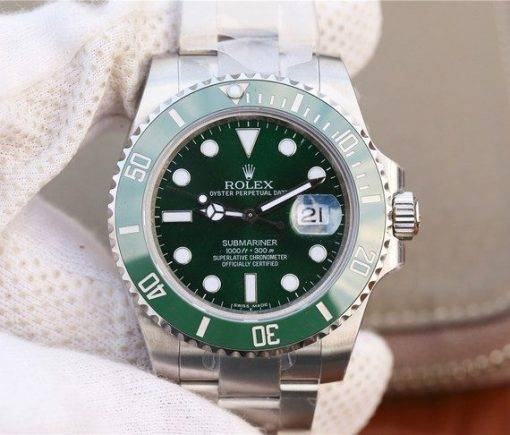 """Replica Uhr Rolex Submariner 02 (40mm) 116610LV """"Hulk"""" Grün Date Oystersteel (grünes Zifferblatt) Edelstahl 316L Automatikwerk"""