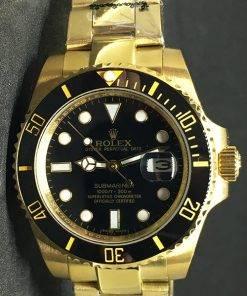 """Replica Uhr Rolex Submariner 06 (40mm) 116613LN """"schwarz"""" Gold Oystersteel (schwarzes Zifferblatt) Edelstahl 316L Automatikwerk"""