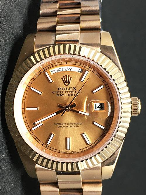 Replica Uhr Rolex Day-Date 10 (40 mm) Goldzifferblatt (President band) Gold Edelstahl 316L Gold Automatikwerk