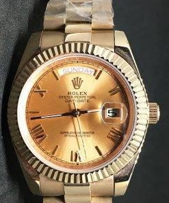 Replica Uhr Rolex Day-Date 11 (40mm) Goldzifferblatt (President band) Edelstahl 316L Gold Automatikwerk