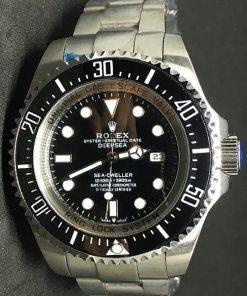 Replica Uhr Rolex Sea-Dweller Deepsea 01 (40 mm) 126660 (schwarzes Zifferblatt) Oystersteel Edelstahl 316L Automatikwerk