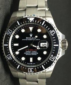 Replica Uhr Rolex Sea Dweller 03 Deepsea (43mm) schwarzes Zifferblatt Oystersteel Edelstahl 316L Automatikwerk (Datumslupe)