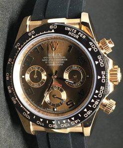 Replica Uhr Rolex Daytona 02 cosmograph (40 mm) Braunes Zifferblatt Oystersteel Edelstahl 316L Automatikwerk