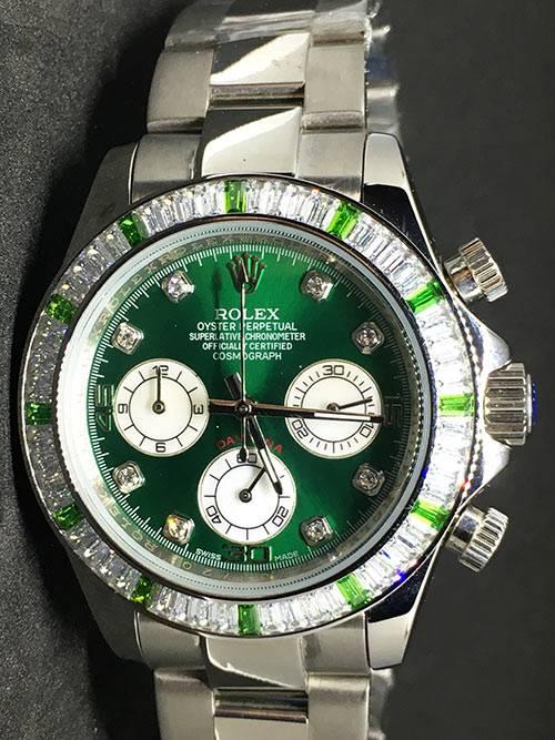 Replica Uhr Rolex Daytona 05 cosmograph (40 mm) Grünes zifferblatt Oystersteel Edelstahl 316L Automatikwerk