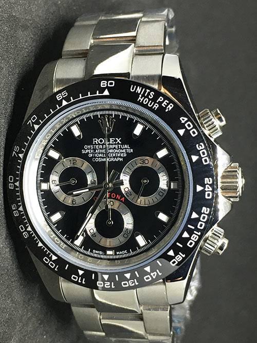 Replica Uhr Rolex Daytona 03 cosmograph (40 mm) schwarzes Zifferblatt Oystersteel Edelstahl 316L Automatikwerk