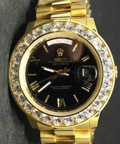 Replica Uhr Rolex Day-Date 16 (37mm) ES10040150A Goldzifferblatt(President band) Diamanten Edelstahl 316L Gold Automatikwerk