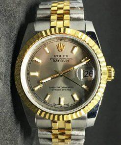 Replica Uhr Rolex Datejust 37 (36mm) (Jubilee band) Goldzifferblatt Bi-color Edelstahl 316L Automatikwerk