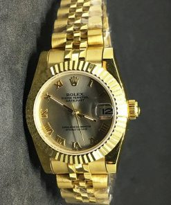 Replica uhr Rolex Datejust Damen 01 (28mm) Goldzifferblatt (Jubilee band) Gold Automatikwerk, 316L edelstahl