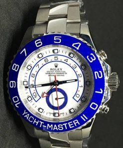 Replica uhr Rolex Yacht master ll 06/1 (42mm) Blaues Zifferblatt Edelstahl 316L Automatikwerk