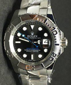 Replica Uhr Rolex Yacht master 02 (40mm) Graues Zifferblatt Oystersteel Edelstahl 316L Automatikwerk