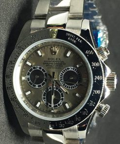 Replica Uhr Rolex Daytona 04 cosmograph (40 mm) Graues zifferblatt Oystersteel Edelstahl 316L Automatikwerk