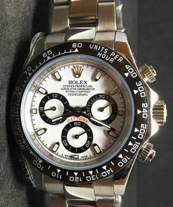 Replica Uhr Rolex Daytona 08 cosmograph (40 mm) 116500LN (weißes Zifferblatt) Oystersteel Edelstahl 316L Automatikwerk