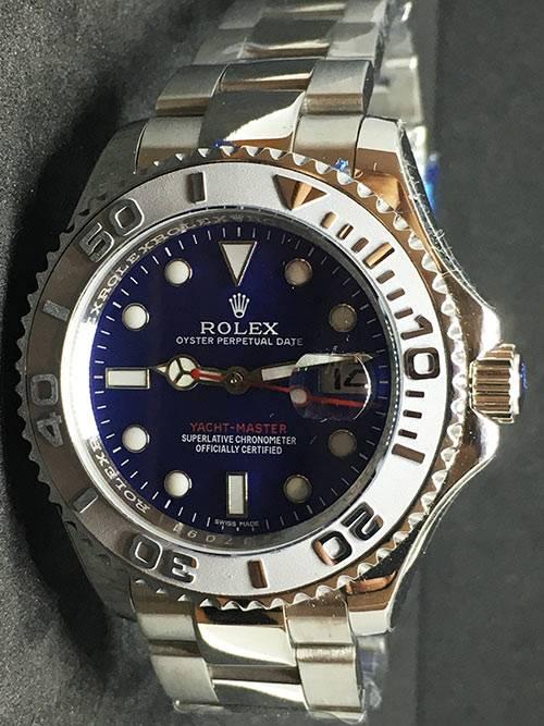 Replica Uhr Rolex Yacht master 06 (40mm) 126622 Blaues Zifferblatt Edelstahl 316L Automatikwerk