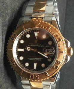 Replica Uhr Rolex Yacht master 03/1 (40mm) 126621 Chocolate Bi-Color Braunes Zifferblatt Edelstahl 316L Automatikwerk