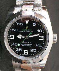 Replica Uhr Rolex Air King 01 (40 mm) 116900 Oystersteel (schwarzes Zifferblatt) Edelstahl 316L Automatikwerk