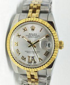 Replica Uhr Rolex Datejust 43 (36mm) (Jubilee band) Graues Zifferblatt / Edelstahl 316L Automatikwerk, Gold