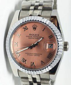 Replica Uhr Rolex Datejust 42 (36mm) (Jubilee band) Rosa Zifferblatt / Edelstahl 316L Automatikwerk