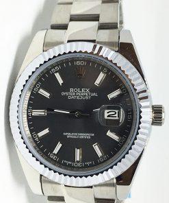 Replica Uhr Rolex Datejust 20 (40 mm) 126334 Oyster band (Graues Zifferblatt) Edelstahl 316L Automatikwerk