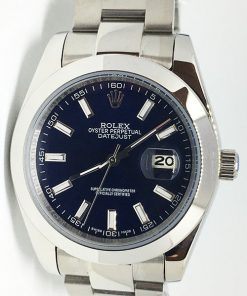 Replica Uhr Rolex Datejust 19 (40 mm) 126300 Oyster band (Blaues Zifferblatt) Edelstahl 316L Automatikwerk