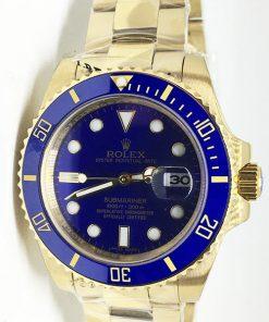 """Replica Uhr Rolex Submariner 07/1 (41 mm) 116613LN """"schwarz"""" Gold Oystersteel (schwarzes Zifferblatt) Edelstahl 316L Automatikwerk"""