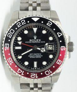 Replica Uhr Rolex Gmt-master ll 11 (40mm) 16710 Coca Cola Schwarz/Rot Jubiläumsband Date (Schwarzes Zifferblatt) Edelstahl 316L Automatikwerk